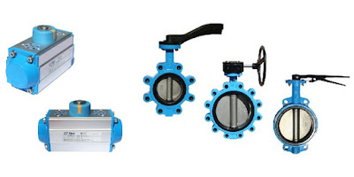 rack and pinion actuator and butterfly valves