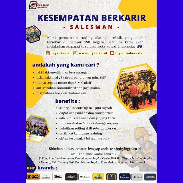 Lowongan Kerja SMP SMA PT Ingco Teknika Indonesia Juni 2021