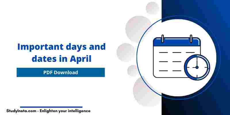 Important days and dates in April 2021 [PDF]