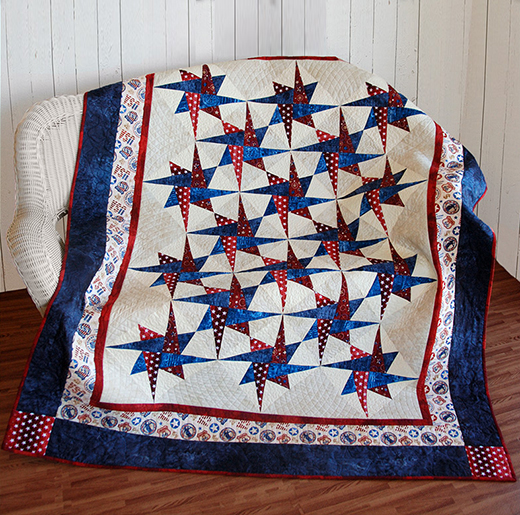 Patriotic Starry Path Quilt Free Tutorial designed by Jennifer Bosworth of Shabby Fabrics