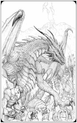 fantasy animal dragon coloring pages for adult