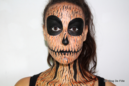 Un blog de fille tuto vid o maquillage halloween citrouille msc - Tuto maquillage halloween ...