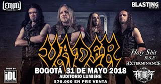 Concierto de VADER en Bogotá 2018