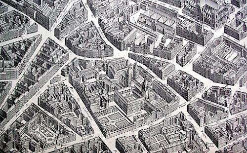 Plan de Paris, dit Plan de Turgot. Le quartier de Saint-Germain-des-Prés (© Quelleriana)