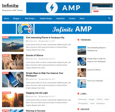 Infinite best Amp blogger template