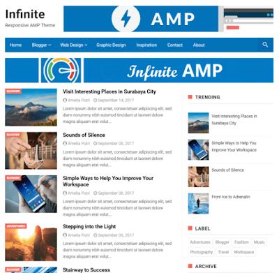 Infinite best Amp blogger template