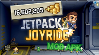 Download Game Jetpack Joyride Mod Unlimited Coins for android