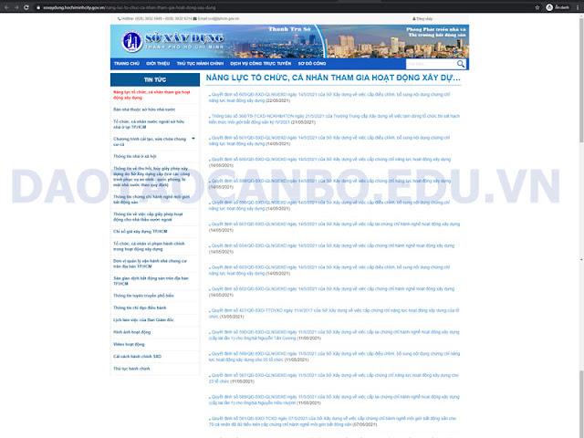 trang web tra cuu chung chi nang luc sxd tphcm