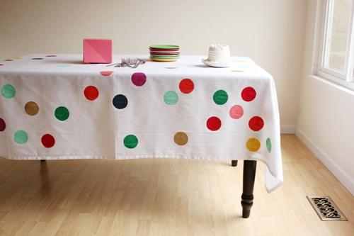 masa örtüsü boyama