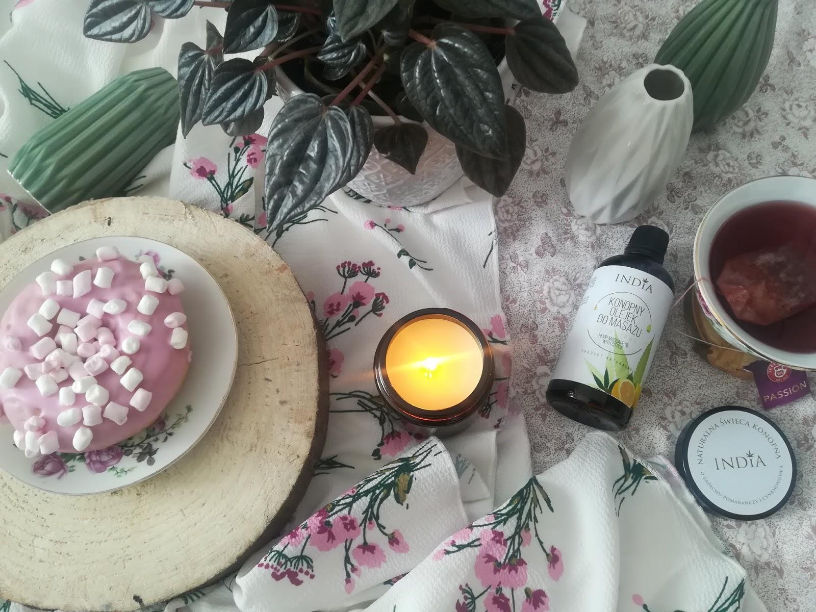 naturalna świeca konopna