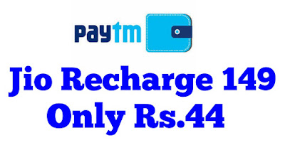 jio recharge 149 only in rs44