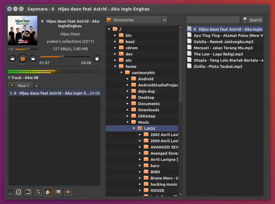 Install Sayonara 0 9 0 (Music Player) on Linux Mint / Ubuntu