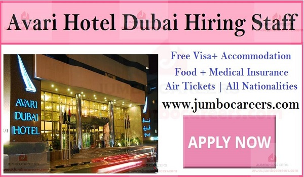 Recent hotel jobs in Dubai, star hotel jobs with benefits,
