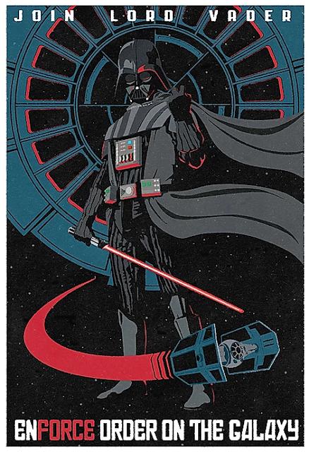 Star Wars Holiday Posters Darth Vadar