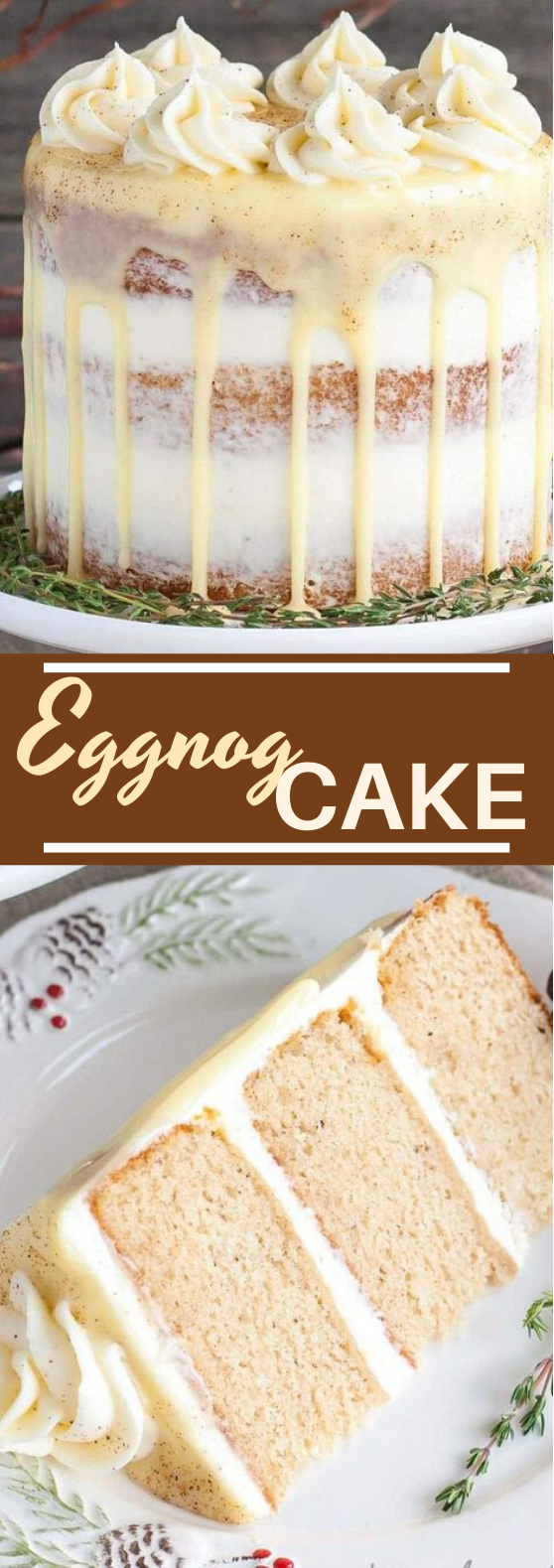 Eggnog Cake #cake #desserts #baking #christmas #recipes