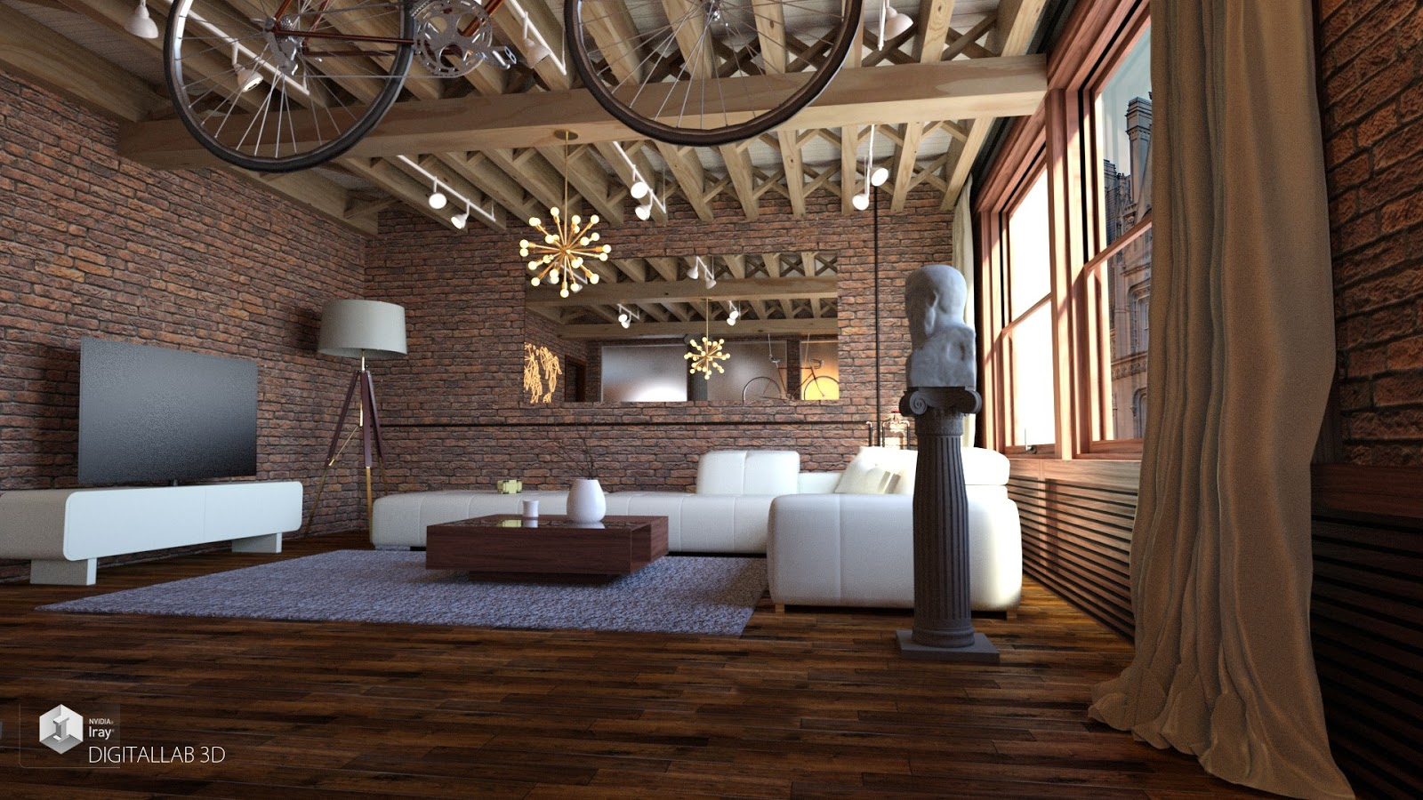 Download daz studio 3 for free daz 3d ny living room for Living room 2 for daz studio