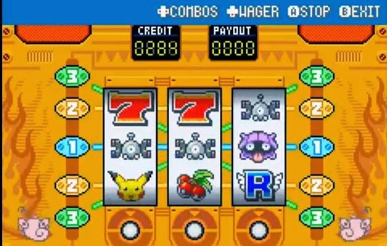 Pokemon blue slot machine