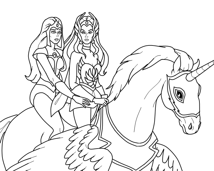 Desenhos De She-Ra Para Pintar, Colorir, Imprimir! Moldes