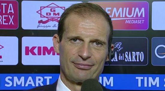 """ALLEGRI Palermo Juventus 0-1: """"Tre punti buoni. Alves puà giocare anche mezzala. In avanti bravi anche se non avevano mai giocato assieme. Su gli infortuni.."""""""
