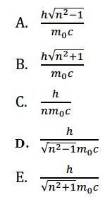 Contoh soal panjang gelombang De Broglie