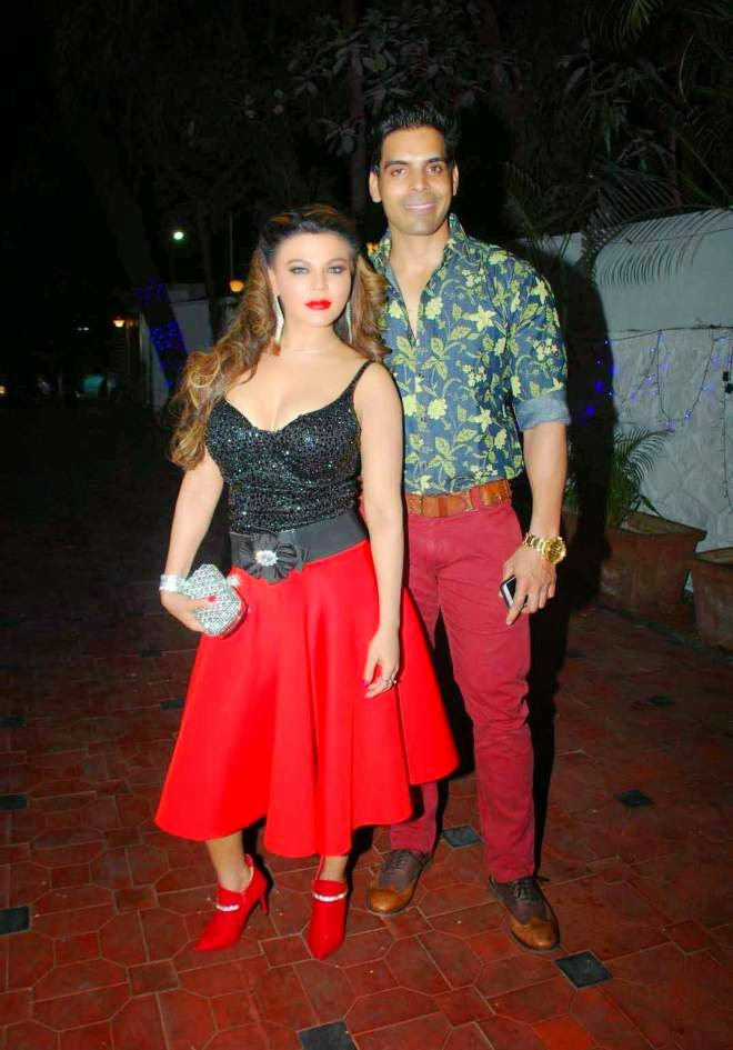 Rakhi Sawant Stills at Gurmeet's Birthday Bash Party