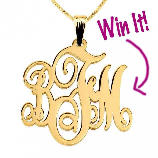 Monogram Necklace Giveaway
