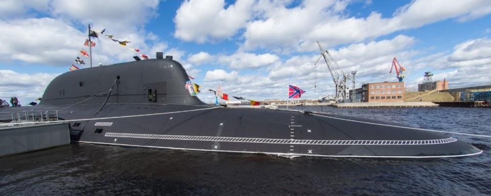 До складу ВМФ РФ прийнято атомну субмарину проекту Ясень-М