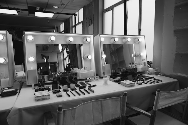makeup room, makeup studio, london, burberry, makeup setup