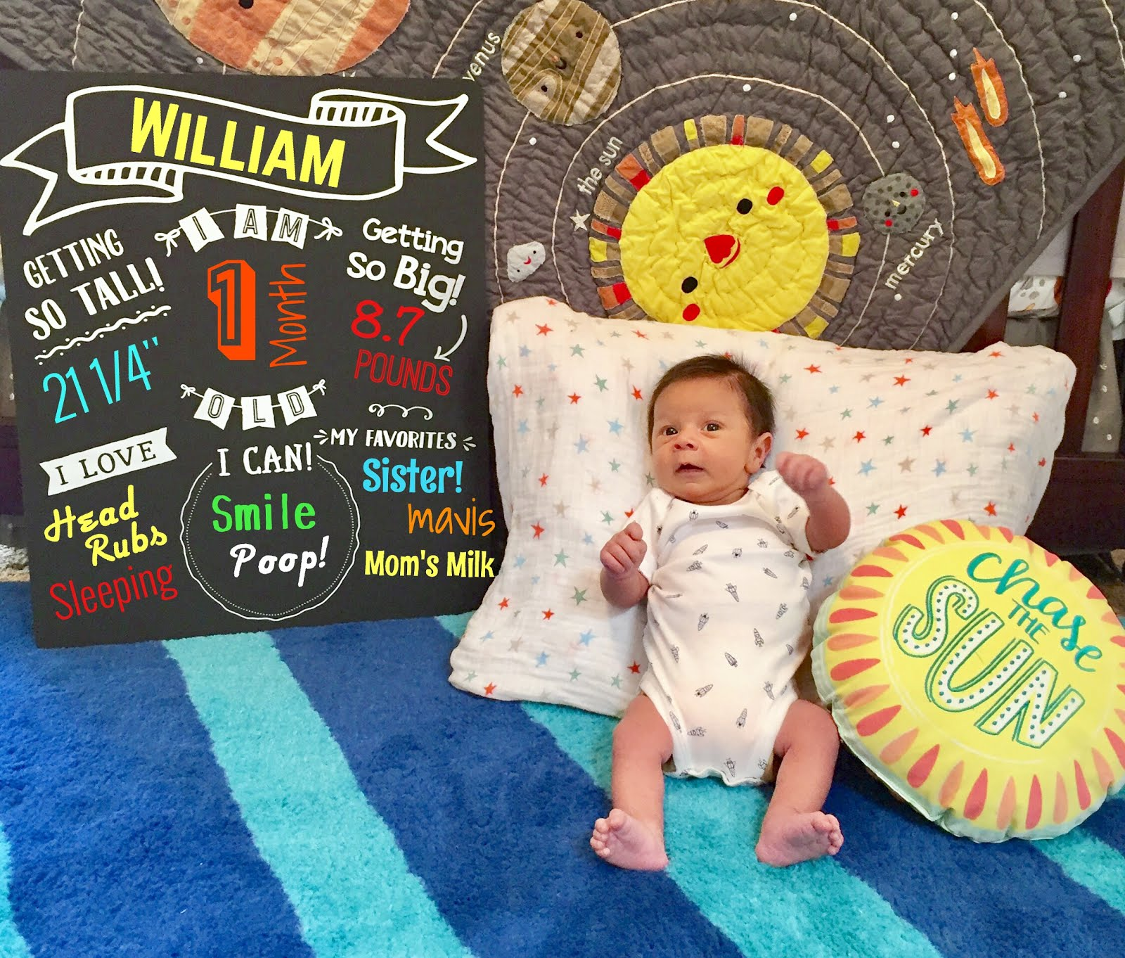 One Month of William