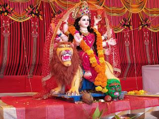 प्रेम श्रद्धा भाव के साथ दुर्गा मां की हुई स्थापना