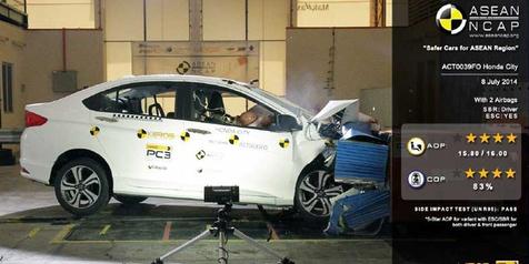 Honda Sabet 6 Penghargaan Uji Tabrak ASEAN NCAP