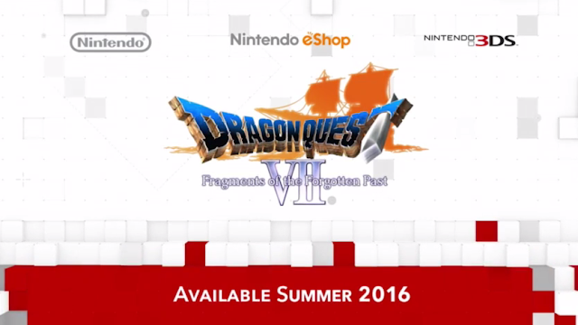 Dragon Quest VII Fragments of the Forgotten Past North America release date 3DS