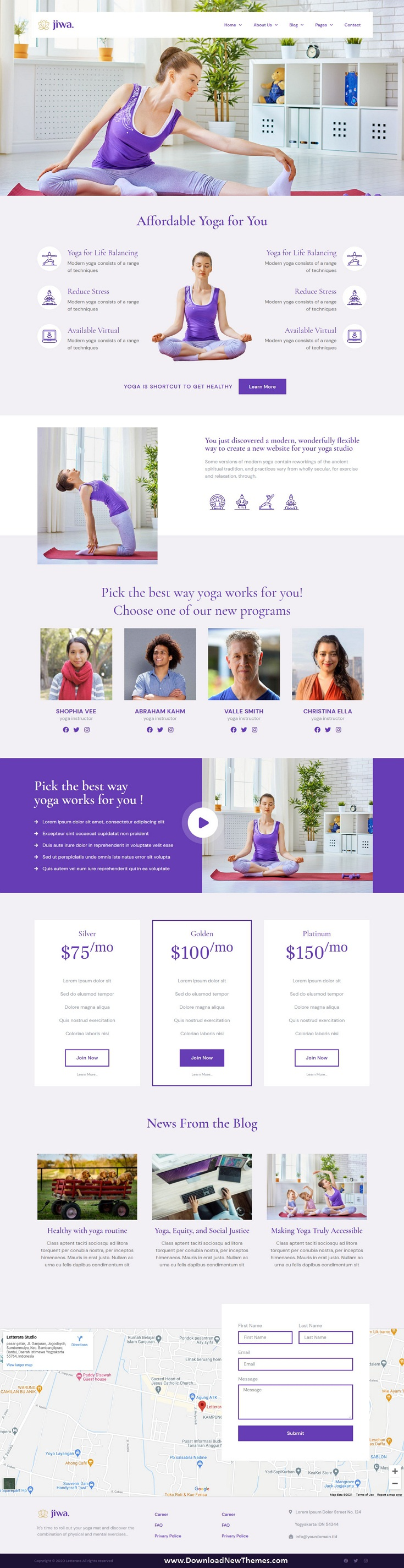 Yoga and Meditation Studio Elementor Template Kit
