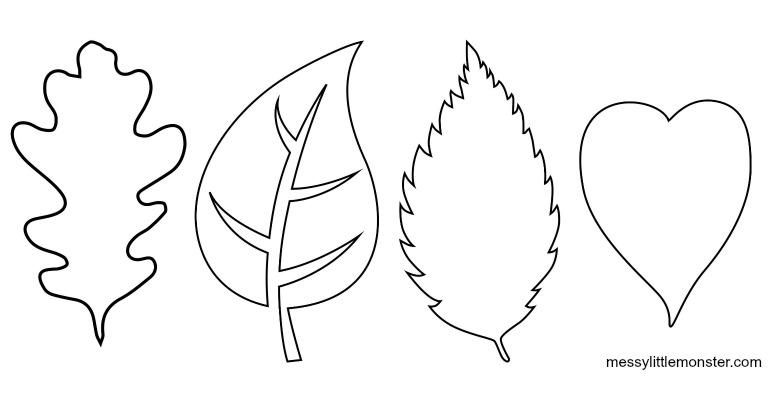 simple leaf template