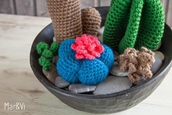 Una colección de cactus de Crochet - Deco & Living | 380x570