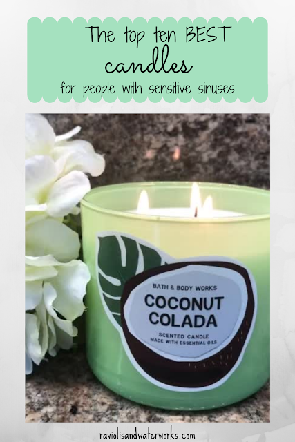 ten best candles with a mild scent