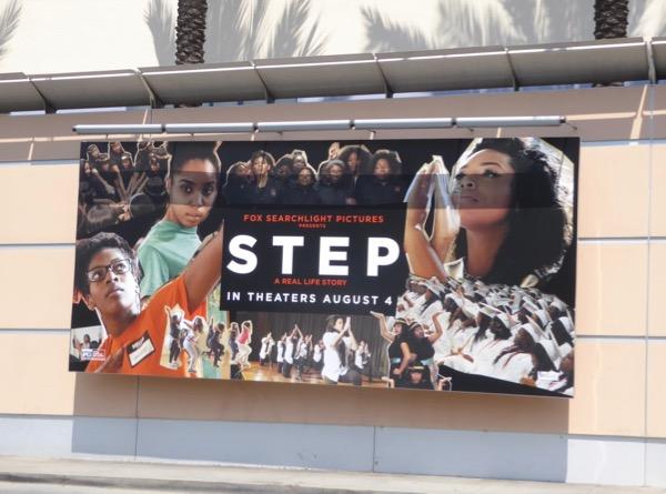 Step movie billboard