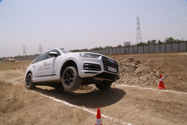 Audi Noida and Audi Delhi West host high-power Q-drive off-roading event exhibiting superlative performance of their SUV's Q7, Q5 and Q3