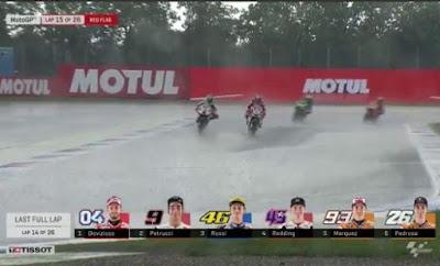 Red Flag! Race MotoGP Belanda Dihentikan di Lap ke-15