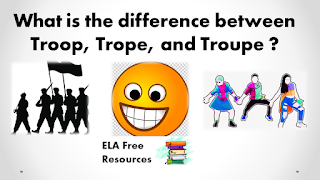 What is the difference between Troop, Trope, and Troupe ?