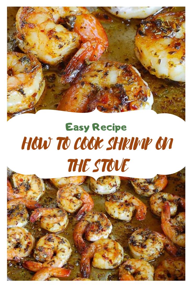 HOW TO COOK SHRIMP ON THE STOVE #dinner #shrimp #easyrecipe