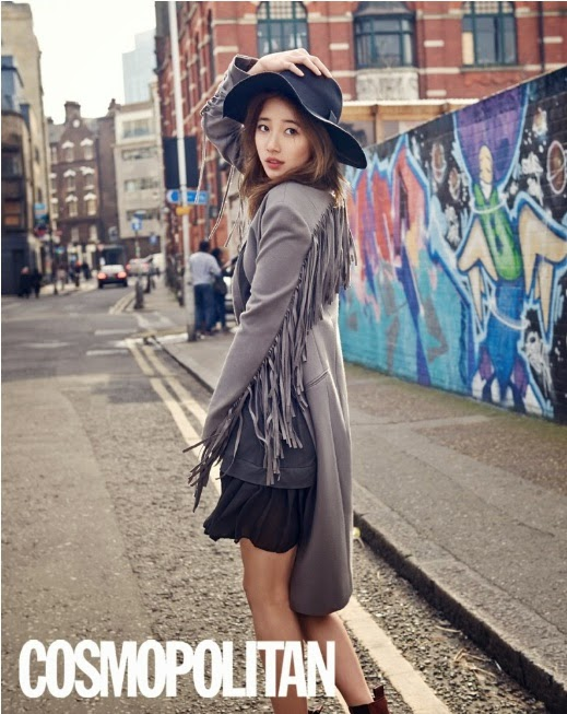 suzy in london suzy cosmopolitan suzy london pictorial suzy london photo suzy colors suzy lee min ho Korean K-pop enjoykorea suzy min fei jia