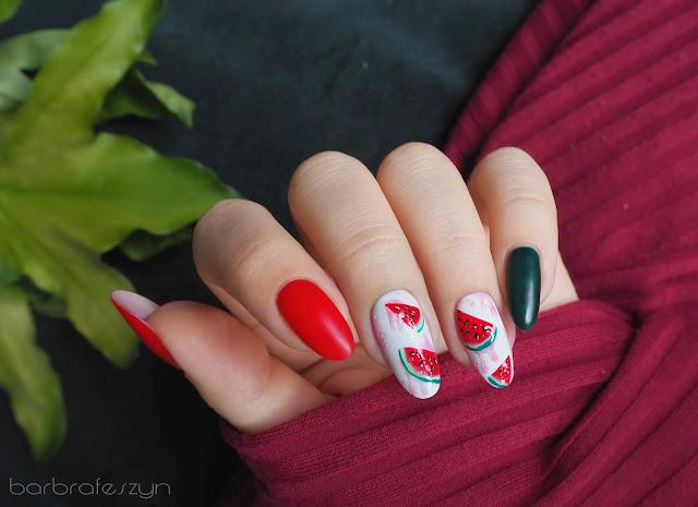 paznokcie w arbuzy