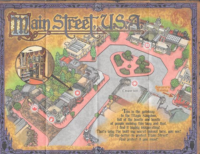 Main Street USA Sorcerers of the Magic Kingdom Map