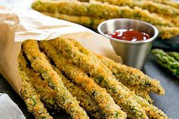 Baked Parmesan Asparagus Fries #recipe #ideas