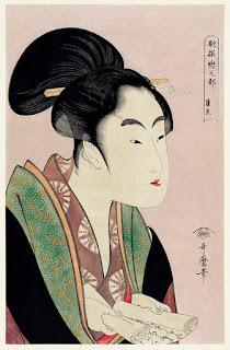 ilustración utamaro kitagawa