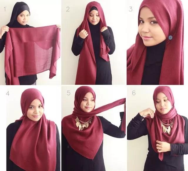 tutorial hijab modern simpel style 3