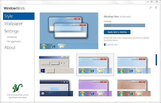 Screenshot Stardock WindowBlinds 10.85 Full Version