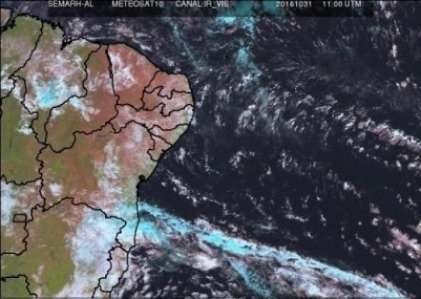 Em Alagoas, previsão mostra fim de semana com possibilidades de chuvas
