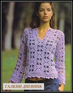 jenskii-pulover-kryuchkom | vyazanie | toxuculuq | knitting
